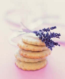 Lavender & Lemon Shortbread Cookies