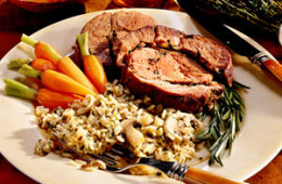 Lavender Roasted Leg of Lamb